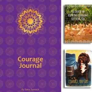 The Courage Journal and Greeting Cards